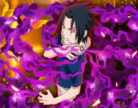sasuke uchiha heaven s curse mark naruto blazing gamea