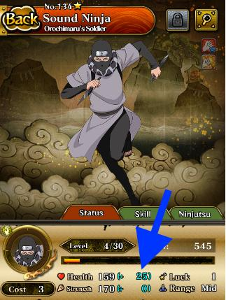 Increasing stats efficiently | Naruto Blazing - GameA